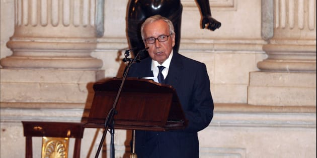 Pablo García Baena agradece el Premio Reina Sofía de Poesía Iberoamericana en 2008.