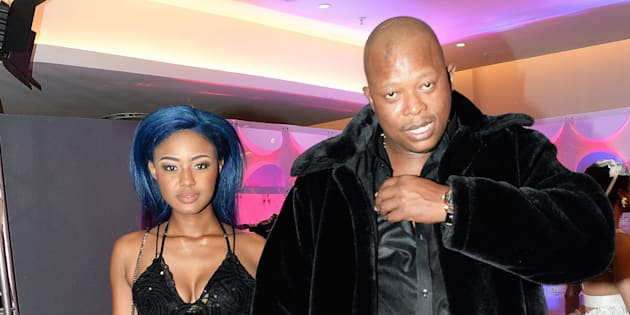 Babes Wodumo and Mampintsha during the 23rd annual South African Music Awards.