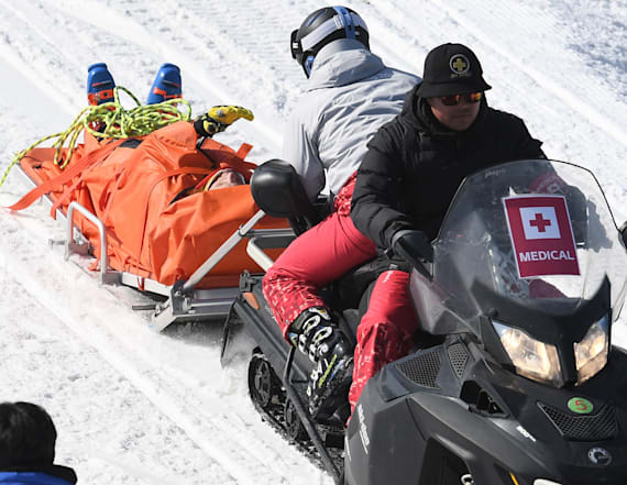 Canadian skier remains hospitalized after crash