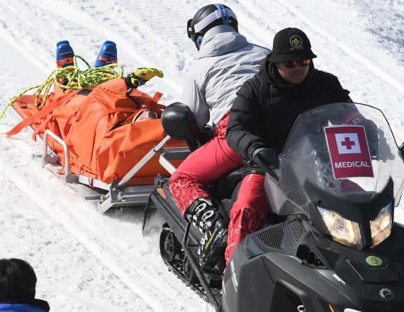 Canadian skier remains hospitalized after crash