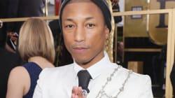 La cara de Pharrell Williams cuando dijeron mal el nombre de su película fue