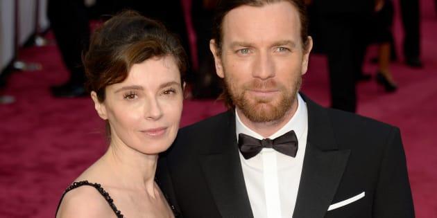 Ewan McGregor junto a su exmujer Eve Mavrakis en la gala de los Oscar de 2014.