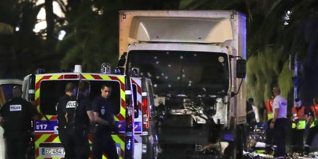 Le camion a qui a servi à l'attentat de Nice le 14 juillet.