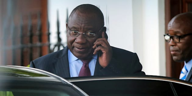 Deputy president Cyril Ramaphosa leaves Tuynhuys, the office of the residency at Parliament in Cape Town, February 7, 2018.