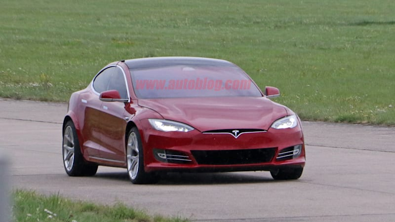 Tesla Model S spied prepping for Nurburgring lap attempt