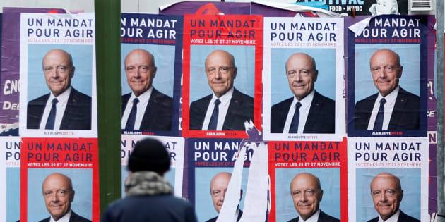 Affiches du candidat à la primaire de la droite Alain Juppé.