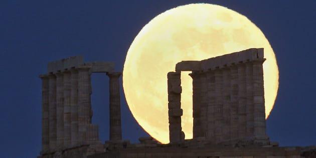 Une photo d'une super Lune, en 2013.