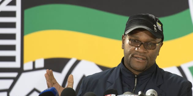 Nathi Mthethwa addresses the media during the African National Congress' (ANC's) 5th national policy conference at the Nasrec Expo Centre on July 03, 2017, in Johannesburg.