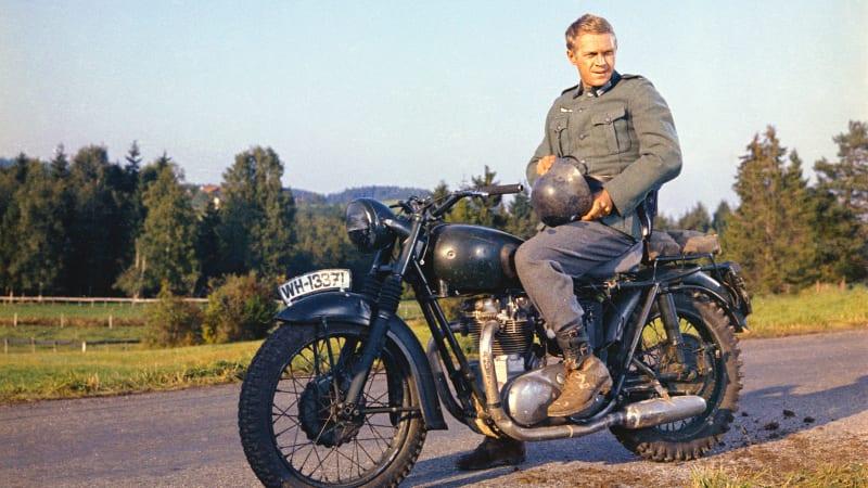 ReVolt electric WWII-era BMW motorcycle replica