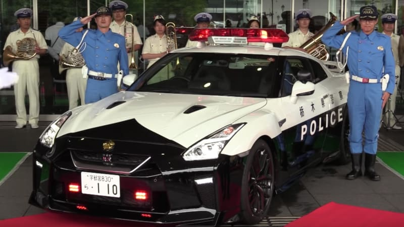 Nissan donates GT-R police car to Japanese police force
