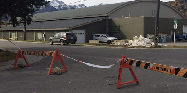 Fernie Memorial Arena in Fernie, B.C. where three people died after a suspected ammonia leak while they were completing maintenance work on Wednesday.