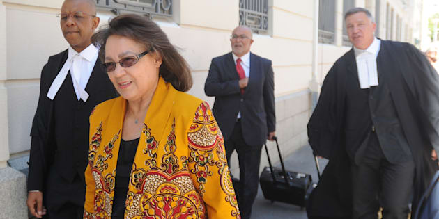 Patricia de Lille and her legal team are seen outside court before the case between Patricia de Lille and the DA at the Western Cape High Court on February 13, 2018 in Cape Town.