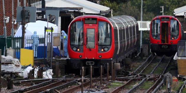 L'arrêt de métro Parsons Green à Londres le 15 septembre 2017.