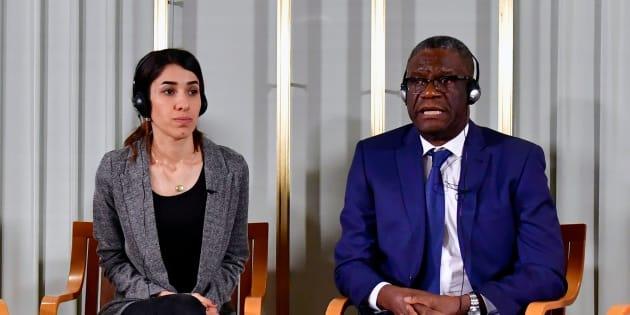 Nadia Murad et Denis Mukwege reçoivent ce lundi 10 décembre à Olso leur prix Nobel de la Paix.