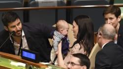 📷 Neve, la bebé que se robó el corazón de los jefes de Estado en la Asamblea de la