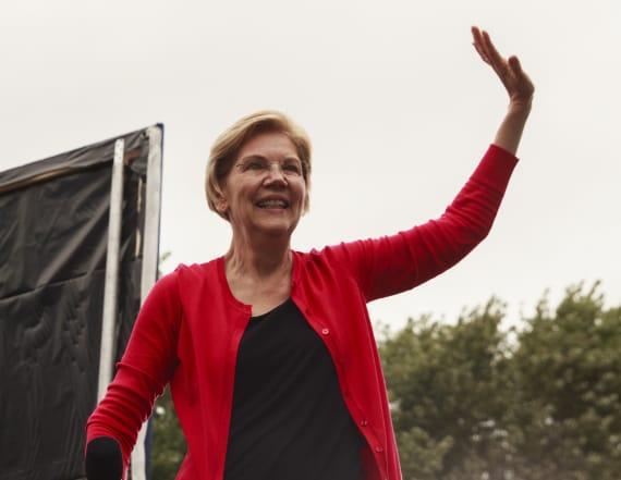 Elizabeth Warren surges past Joe Biden in Iowa