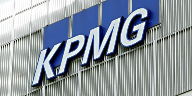 A general view of the KPMG building in Canary Wharf, London.
