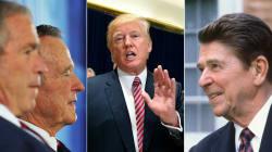 Trump est contredit par Bush père, Bush fils... et même Ronald