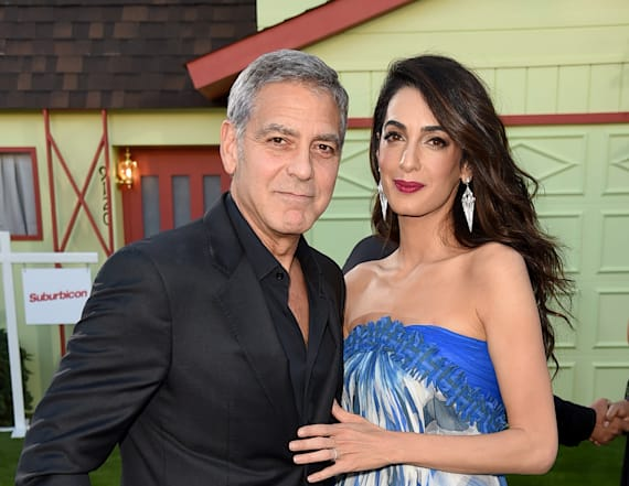 Amal Clooney steps out in rare sighting with twins