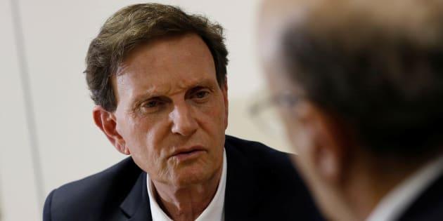 Prefeito do Rio de Janeiro, Marcelo Crivella também teve os bens bloqueados, mas em outra ação.