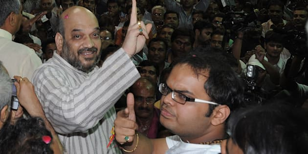 Amit Shah (left) with son Jay Shah.