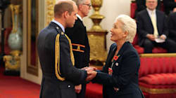 Emma Thompson Wears Sneakers, Flirts With Prince William At Damehood