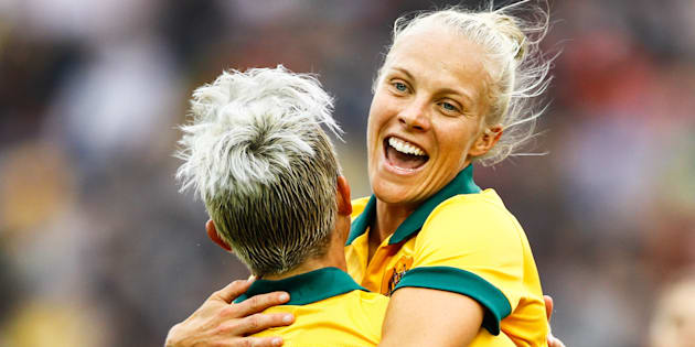 Tameka Butt is now one of the Matildas' best players -- and gee she's happy about it.