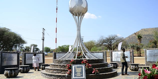 NORTH WEST, SOUTH AFRICA � OCTOBER 04: The unveiling of a monument dedicated to President Jacob Zuma at the Groot Marico site on October 05, 2017 in North West, South Africa. Zuma recalled the day in 1963 when he, along with 51 others were arrested by the apartheid security branch police. (Photo by Gallo Images / Business Day / Tiro Ramatlhatse)