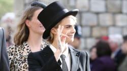 FOTOS: El look ganador de Cara Delevingne en la boda de la princesa