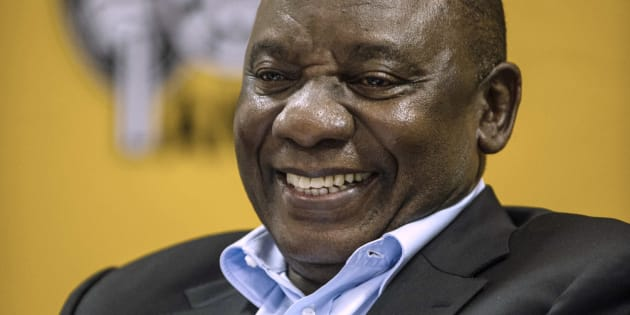 South African deputy president and one of the top six members of the South African ruling  African National Congress, Cyril Ramaphosa attends the National Executive Committee (NEC) ordinary meeting on March 18, 2016 at the St Georges Hotel, in Centurion, South Africa. (MUJAHID SAFODIEN/AFP/Getty Images)