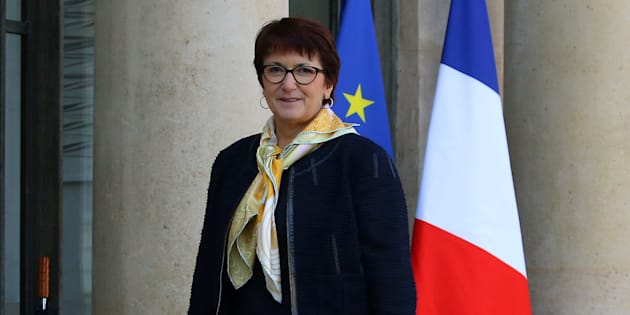Christiane Lambert accueille Emmanuel Macron au salon de l'Agriculture.