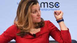 Élections fédérales: la ministre Freeland s'attend à une ingérence