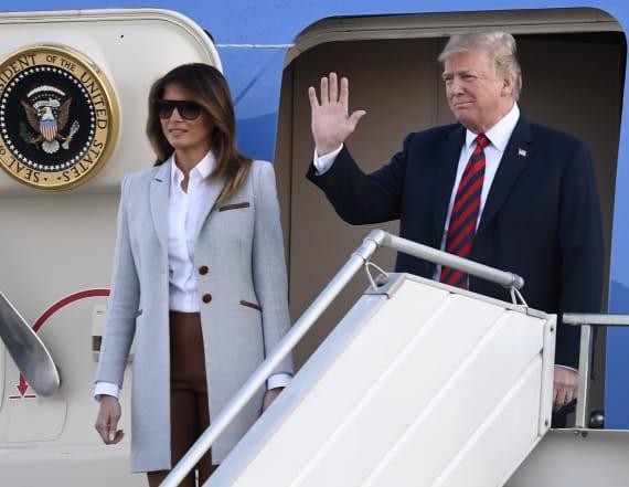 All eyes were on Melania Trump's feet