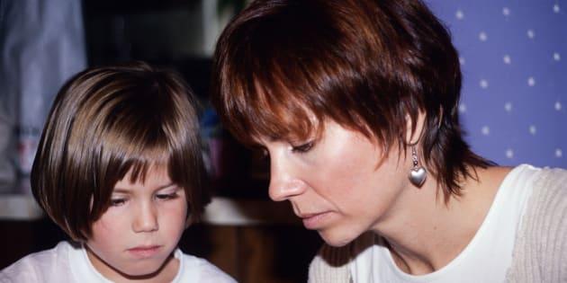 L'auteure et sa mère.