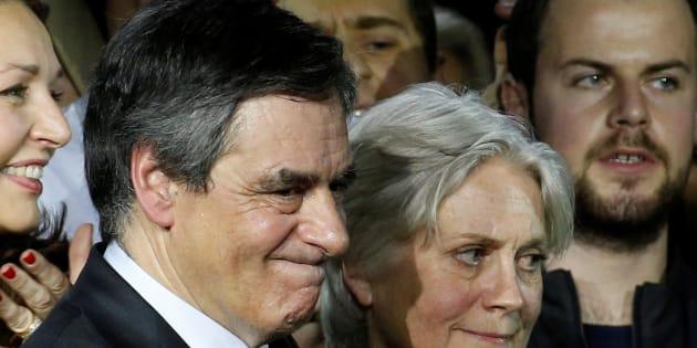 Francois Fillon, lors de son meeting parisien de La Villette dimanche 29 janvier.