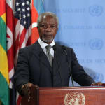 Kofi Annan, ancien secrétaire général de l'ONU et prix Nobel de la Paix, est