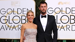 This Photo of Chris Hemsworth's Kids Watching The Golden Globes Is