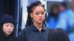 Rihanna Dons A Green Wig For A Sultry New