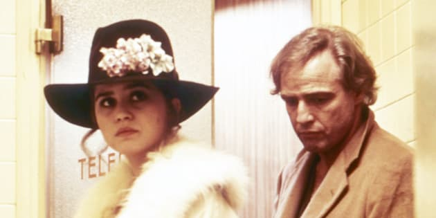 "Marlon Brando and Maria Schneider in ""Last Tango in Paris."""