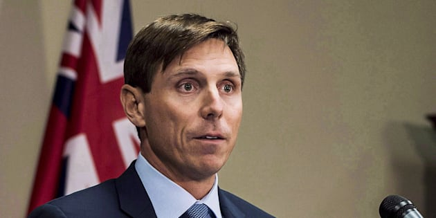 Former Ontario Progressive Conservative Leader Patrick Brown speaks at a press conference at Queen's Park in Toronto on January 24, 2018.