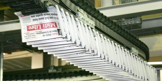 Rotatives du quotidien Le Midi Libre, photo d'illustration.