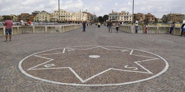 Nella foto: Il pontile di Ostia Fabrizio Corradetti / LaPresse