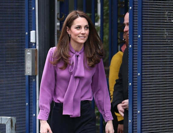 Did Kate wear her purple Gucci blouse backwards?