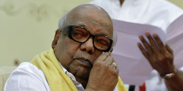 M. Karunanidhi, chief of Dravida Munnetra Kazhagam in a file photo.