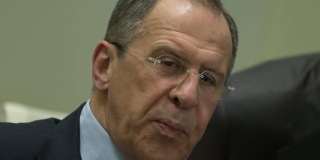 Le ministre des Affaires étrangères de la Russie Sergueï Lavrov