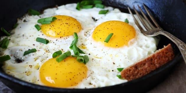 Eternally grateful for an unbroken yolk.