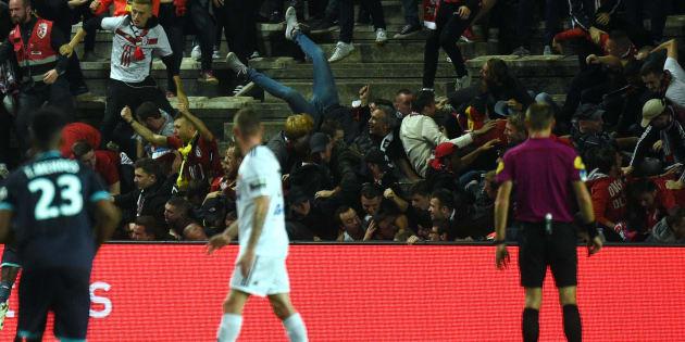 Barrière effondrée à Amiens: le club pas sanctionné par la LFP, le match contre Lille sera rejoué