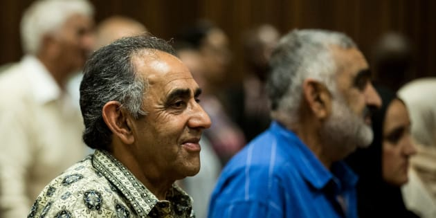 Ahmed Timol's brother and former anti-apartheid activist, Mohamed Timol, looks on after the court judgment ruling his brother's death a murder by police officers.