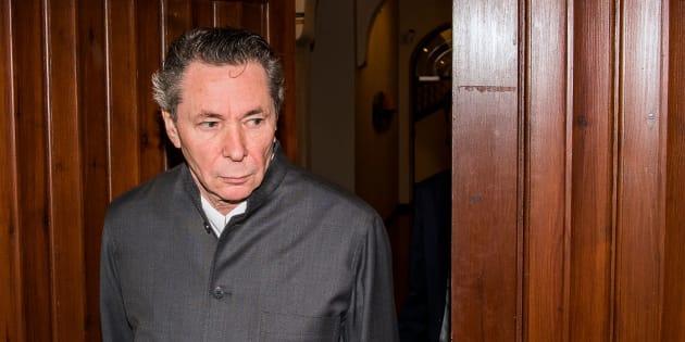Jean-Claude Arnault arrivant à la cour de Stockholm le 24 septembre 2018.