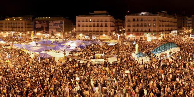 Puerta del Sol, Madrid,  mayo de 2011